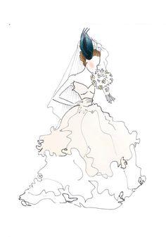 DIGITAL Carrie Bradshaw Wedding Dress Sex and the by RepliKateIt