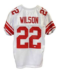 David Wilson New York Giants Autographed White Throwback Jersey