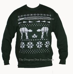 Fun Green Christmas Star Sweatshirt White Galaxy Wars Nordic Sweater Gift Idea in Clothes, Shoes & Accessories, Men's Clothing, Jumpers & Cardigans Star Wars Christmas, Green Christmas, Disney Christmas, Christmas Ideas, Nordic Sweater, Ugly Sweater, Christmas Jumpers, Ugly Christmas Sweater, Sweat Shirt