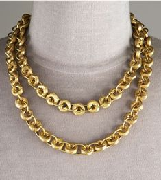 Ashley Pittman Bronze Chain Necklace Love