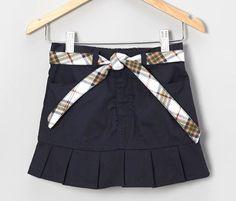 Two Eddie Bauer Girls Sz 14 Pleated Scooter Skort Skirt School Uniform Blue NWT #EddieBauer #SkirtSkort