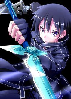 Kirito - By Sword Art Online Kirito and Asuna ღ Otaku Anime, Manga Anime, Gato Anime, All Out Anime, I Love Anime, Awesome Anime, Arte Online, Kunst Online, Online Art