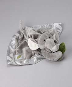 Take a look at this Gray Plush Ekko the Elephant Rattle Lovey by Baby Aspen on #zulily today!