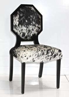 cowhide octagon dining chair by ModShop