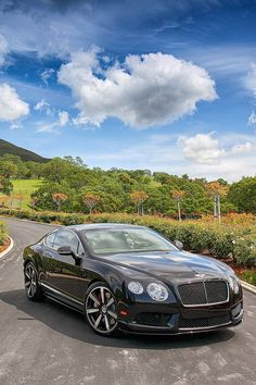 Bentley Continental GT, the perfect car for a drive through France. http://www.drive-france.com/