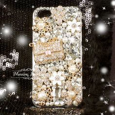 iPhone 5 Case - Bling iPhone 5 Case, Crystal iPhone 5 Case, iPhone 5 Cover, Bling Bling Flowers Purse iPhone Case - 88. $22.99, via Etsy.