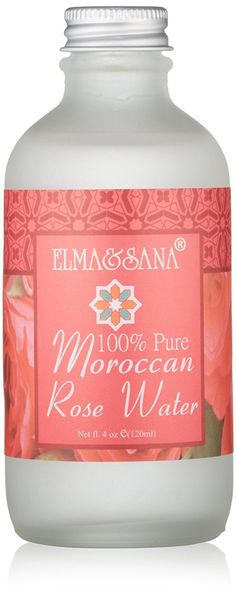 Elma and Sana 100% Pure Moroccan Rose Water, 4 Ounce * Remarkable product available now. : Oily SkinCare
