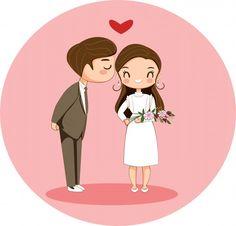 Cute Boy Kissing Girl Cartoon Character For Valentine Concept Girl Cartoon Characters, Boy And Girl Cartoon, Cartoon Art, Bride And Groom Cartoon, Wedding Couple Cartoon, Wedding Illustration, Couple Illustration, Cute Muslim Couples, Romantic Couples