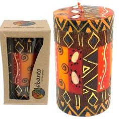 Hand Painted Candle - Single in Box - Bongazi Design (South Africa) | Overstock.com Shopping - Great Deals on Global Crafts Candles & Holders