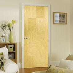 Bespoke Apollo Oak Flush Door - Prefinished.    #door #internaldoor #bespokedoor #contemporarydoor #interiordoor