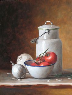 "Julie Y Baker Albright 11 Χ 14 "" Still Life Drawing, Painting Still Life, Veggie Images, Farmhouse Paintings, Hyper Realistic Paintings, Still Life Fruit, Cafe Art, Still Life Photos, Pintura Country"