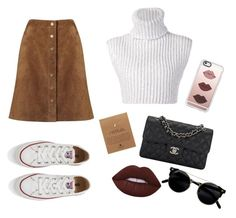 """"""""""" by gizzx ❤ liked on Polyvore featuring Baja East, Phase Eight, Chanel, Converse, Dogeared, Casetify and Lime Crime"""