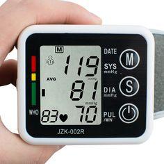 New Digital Electronic Sphygmomanometer Tonometer Full Automatic Upper Arm Blood Pressure Monitors Pulse Heart Rate Monitor