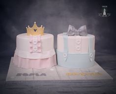 Christening cake for twins - cake by Twister Cake Art Gateau Baby Shower Garcon, Twin Birthday Cakes, 1st Birthday Cake Designs, Twins Cake, Cakes For Twins, Christening Cake Girls, Baby Reveal Cakes, Book Bebe, Indian Cake