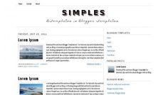 Free blogger template Blog Templates Free, Blogger Templates, Wordpress Template, Free Blog, Lorem Ipsum, Web Design, Minimalist, Simple, Inspiration