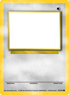 Blank Pokemon Card Template Mega