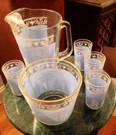 Antique Vintage Jeannette Glass blue by SupergirlBatgirlRav, $99.00