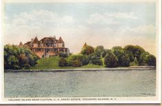 Calumet Island near Clayton. Emery Estate, The Thousand Islands Alexandria Bay, Thousand Islands, St Lawrence, Old Houses, Homes, River, Old Homes, Houses, Old Mansions