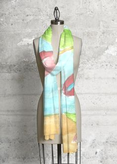 Cashmere Silk Scarf - Peace & Tranquility Scarf by VIDA VIDA ytsatiGB