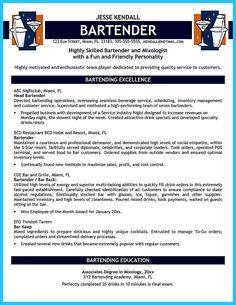 bartender resume example | Chef Resume - Sample Job Resume Layout ...