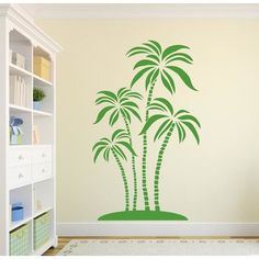 """Style and Apply Abstract Palms Wall Decal Color: Golden Yellow, Size: 31"""" H x 18"""" W"""