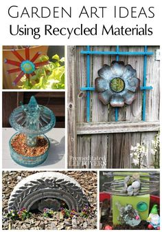 Add life to your garden with these Garden Art Ideas Using Recycled Materials. You will find upcylced DIY project tutorials for planters, bird feeders, fairy gardens, and yard decor crafts!