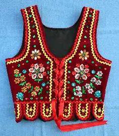 gorset krakowski | Nowy strój krakowski - Polska Strefa Folk Costume, Costumes, Polish Embroidery, Boho, Regional, Vests, Fashion, Ethnic Dress, Outfits