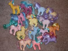 my little pony... I remember when they got old their manes and tails got all gnarly and stuck straight up. lol