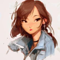 Kai Fine Art is an art website, shows painting and illustration works all over the world. Character Drawing, Character Illustration, Illustration Art, Fanarts Anime, Character Design References, Character Design Inspiration, Cartoon Styles, Artist Art, Cool Artwork