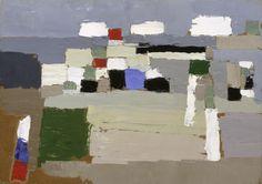 Nicolas de Staël, Landscape Study, 1952, Oil on board, 32,7 x 46 cm, Tate Modern, London