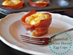 My hubby loves turkey bacon and eggs. Gotta try this for a portable work breakfast! Clean Recipes, Low Carb Recipes, Snack Recipes, Cooking Recipes, Easy Recipes, Snacks, Butterball Turkey, Butterball Recipe, Paleo