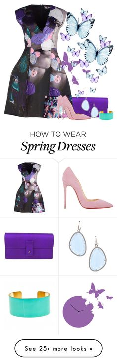 """Dreaming of Spring"" by graciouslyglamorous on Polyvore featuring Diamantini & Domeniconi, Gucci, Fornash, MSGM, Elliott Chandler and Christian Louboutin"