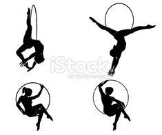 Circus acrobats Royalty Free Stock Vector Art Illustration