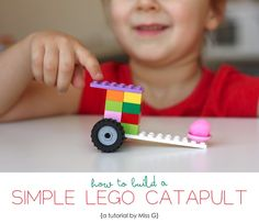 How to Build a Simple Lego Catapult  a tutorial by Miss G | Mama Papa Bubba