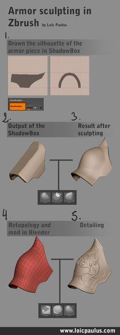 Zbrush: Armor sculpting in zbrush Zbrush Character, Character Modeling, 3d Character, Zbrush Tutorial, 3d Tutorial, Modeling Techniques, Modeling Tips, Sculpting Tutorials, Art Tutorials