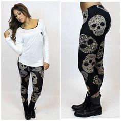 Skull Leggings