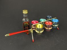 6 colorful schnaps shot cups aluminium / West by ShabbRockRepublic