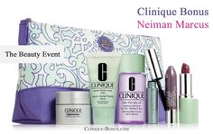 Clinique complimentary gift - yours with $65 purchase at Neiman Marcus. http://clinique-bonus.com/other-us-stores/