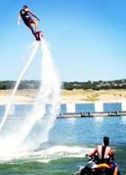 Flyboarding on Lake Travis with Aquafly