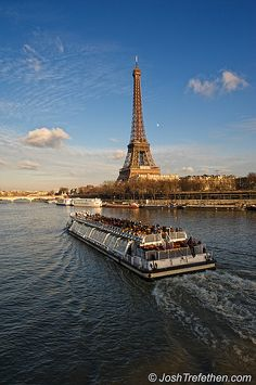 River cruise on the Seine.  Lovely during the day.  We did a dinner cruise at night for my birthday, Jan. 2 of this year.