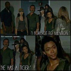 "Sasha's like ""Yeah, you did fool!"" The Walking Dead ""Rock in the Road."" Season 7, Episode 9"