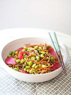 SOBA & CARROT NOODLES WITH WATERMELON RADISH