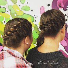 #fourstrandbraid times two today, braided during a meeting at work  #kuinkaksimarjaa #neliosainenletti #neljäosainenletti #braidingintheoffice #suomiletit #braiding #braidideas #braidinghair #inspirationalbraids #lettikampaus #featuremybraids