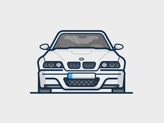 by Scott Tusk - Dribbble Design Thinking, Whatsapp Wallpaper, Car Illustration, Bmw, Car Drawings, Car Wallpapers, Lego, Personalized T Shirts, Art Cars