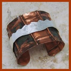 Pure Copper and Sterling Cuff #HAFshop #HAF #handmade #gifts $72.00
