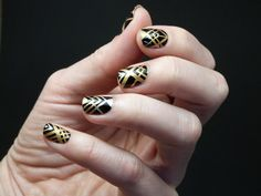 Scotch Magic Nails: Art deco Tutorial