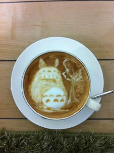 TOTORO this is the greatest cup of coffee I've ever seen!!!
