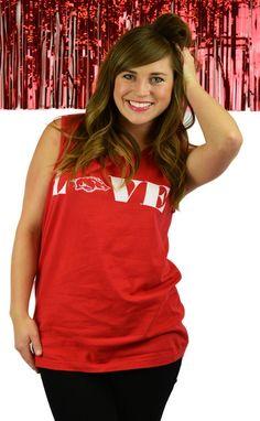 https://belleboutiquenwa.com/razorback-nation/red-love-hogs.html #hogslove #razorbacklove #arkansas