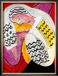 "Henri Matisse ""The Dream"" framed Giclee Print."
