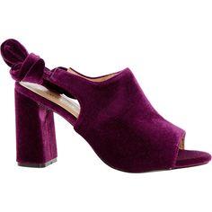 7c6e0d789401 Purple Velevet Mule Heels - Mod Box Shoes - Women s Mod Box - Edits